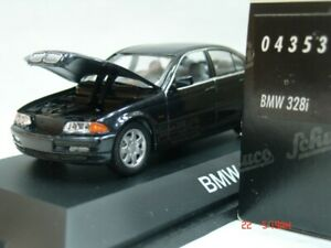 WOW EXTREMELY RARE BMW E46 328i Sedan 1998 Black 1:43 Schuco not Minichamps