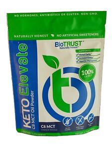 BioTRUST Keto Elevate 100% C8 MCT Oil Powder Creamy and Delicious