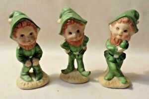Set Of 3 PixieVintage Figurine Lego Brand Vintage ceramic Elf  Leprechauns