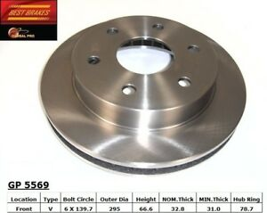 Disc Brake Rotor-Rear Drum Front Best Brake GP5569