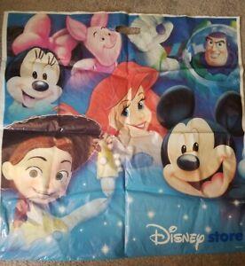 "DISNEY STORE GIANT 28""×28""PLASTIC GIFT BAG MICKEY-MINNIE-ARIEL-TOY STORY-PIGLET"