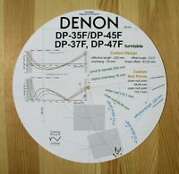 Denon DP-35F/37F/45F/47F Custom Designed Tonearm Cartridge Alignment Protractor
