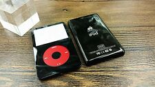 black faceplate back case cover housing red clickwheel for ipod 5th video 30gb