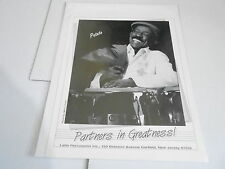 #884 VINTAGE 8x10 MUSICIAN PHOTO - LP DRUMS - PATATO