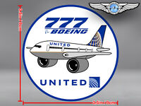 UNITED AIRLINES UAL PUDGY BOEING B777 B 777 DECAL / STICKER