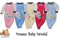 2Pcs Baby GIRLS BOYS Long Sleeve Outfits Dungarees 0 - 12 months HIGHEST QUALITY