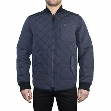 TRUE RELIGION MENS REVERSIBLE LS QUILTED JACKET EXTRA LARGE XL NAVY NWOT $399