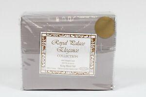 Royal palace elegant collection sheets 800 thread count  King 4 pcs set Gray
