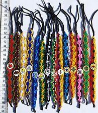 Lot 50 Macrame Friendship Bracelets with Ceramics Hand Woven Peruvian Jewelry