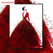 DIY Diamond Painting 5D Full Diamond Embroidered Red Wedding Dress Cross Stitch