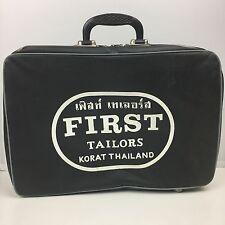 Vintage Wartime First Tailors Korat Thailand Overnight Bag Travel Suit Case