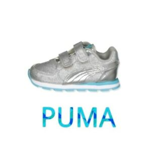 🆕 PUMA 🐥 Vista Glitz V INF Toddler Baby Sneakers Shoes Size 4 Hook & Loop NWT