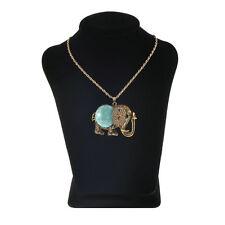 Turquoise Rhinestone Chain Costume Necklaces & Pendants