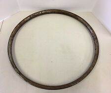 "Vintage 25"" 36 Spoke Wood Rim 1 1/4"" Wide Outside Bicycle Wheel Rim Metal Clad"