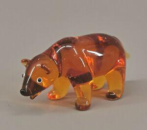 9912058-x Glas Figure Brown Bear 3, 5x7cm Mouth-Blown Handmade