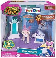 Toys R Us Exclusive Animal Jam Snow Fort Den Playset Snow Leopard Limited Wild