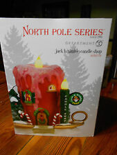DEPT 56 NORTH POLE VILLAGE JACK B. NIMBLE CANDLE SHOP NIB