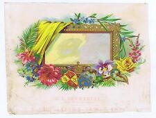 Untitled, mirror frame, rose, fabric, Sample Cigar Box Label, O L Schwencke #312