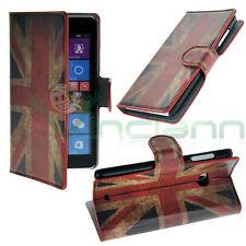 Custodia BOOK bandiera vintage inglese per Microsoft Nokia Lumia 535 cover STAND