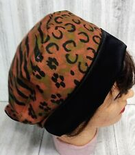 Scrub Hat SKULL CAP All Premium Cotton Fabric Satin Lined Reusable Washable