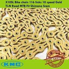 KMC X10SL Bike chain 116 links 10 speed Gold Ti-N Road MTB Fit Shimano Sram