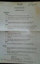 Copy of WW2 Orders for Operation Hard tack 24 to Free French Commandos Jan 44