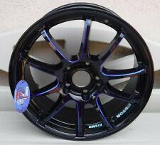 Konig ILLusion Black/Ball Cut Blue Accents 17x7 5x114.3 40mm