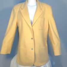 J.Crew Womens Small Blazer Jacket Coat Wool Cashmere Lined Golden Buttery Yellow