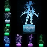Naruto 3D Visual Night Light 7 Color LED Touch Desk Table Lamp Fun Xmas Gift