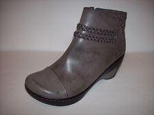NWOB JAMBU ADVENTURE DESIGNS Gray Vegan Mid-Heel Ankle Zip Boots US Sz 11M