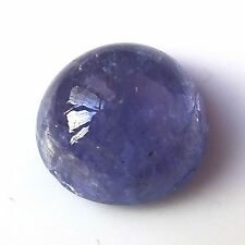 RARE 7mm ROUND CABOCHON-CUT LIGHT PURPLE/BLUE NATURAL TANZANITE GEM (APP )