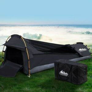 Weisshorn Camping Swags Single Biker Swag Grey Ripstop Canvas Tent