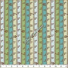 """""""HAMMERS & NAILS"""" BLEND / HORJUS TAPE MEASURE BLUE COTTON FABRIC PRICED @ 1/2 YD"""