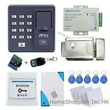 Fingerprint+RFID Card+Password Door Access Control System+Electric Lock+Remote!