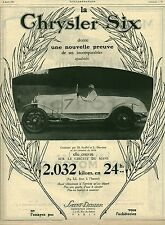 Publicité ancienne automobile Chrysler Six issue de magazine 1925