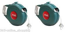 2x 12m Carrete Retráctil al aire libre de la línea de lavado automático de PVC de una sola línea de ropa