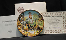 Edwin M. Knowles The Milkmaid & Her Pail Aesops Fable Collector's Plate