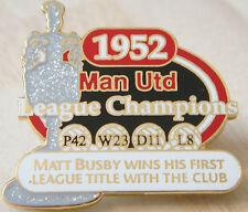 MANCHESTER UNITED Victory Pins 1952 LEAGUE CHAMPIONS Badge Danbury Mint