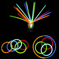 10Pcs Neon Colours Glow Sticks Bracelets Necklaces Favors Rave Party Disco Paryt