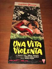 UNA VITA VIOLENTA PASOLINI CITTI SALERNO RONDI LOCANDINA 1962