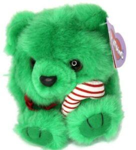 Puffkins  1997 Jingles the Green Christmas Bear Swibco Plush Style 6670