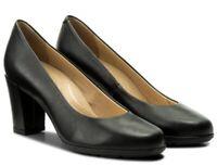 GEOX RESPIRA ANNYA D745FC scarpe decollete decolte donna mocassino tacco pelle