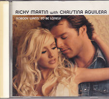 Ricky Martin with Christina Aguilera-Nobody Wants To Be Lonely Promo cd maxi sin