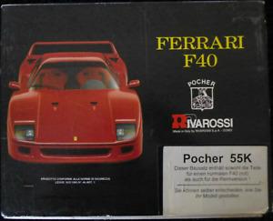 Pocher Ferrari F40 rot 1:8 Bausatz K 55 K57 Rennversion NEU OVP MINT Race Kit