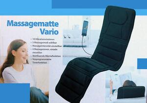 """Elektrische Massagematte """"Vario de Luxe"""" Massageauflage, Vibrationsmatte"""