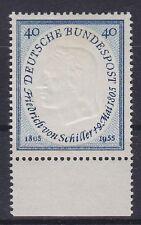 Bund Mi Nr. 210 ** UR Unterrand, 100. Todestag Schiller 1955, postfrisch, MNH
