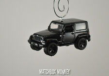 Custom '14 Jeep Wrangler Unlimited Black Hard Top Christmas Ornament 1/64 Adorno