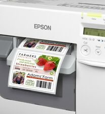 FOLIENetiketten 76mm TRANSPARENT GLOSSY   Epson TM-C3400 TM-C3500 Colorworks