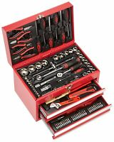 Mannesmann Tool Box Assembled 155 Pieces Made of Durable Steel Drawers Handle