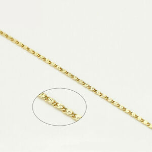 18k Yellow Gold F 40cm 16'' Wan Zi Necklace 1mm Solid Chain for Pendant AUSMADE